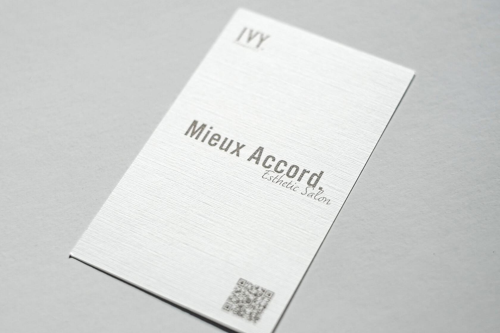 Mieux Accord Esthetic Salon / ロゴタイプ・名刺制作